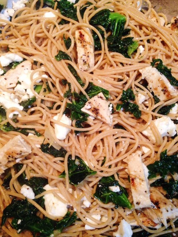 Kale & Grilled Chicken Mediterranean Pasta | Diamonds & Bacon
